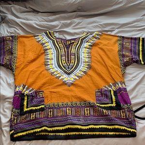 Dresses & Skirts - Burnt Orange Dashiki Shirt/Dress